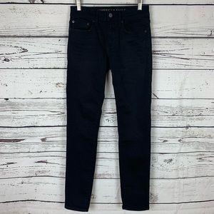 AEO Black Next Level Flex Skinny Jean Size 28x32